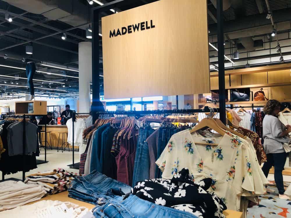 madewell clothes racks