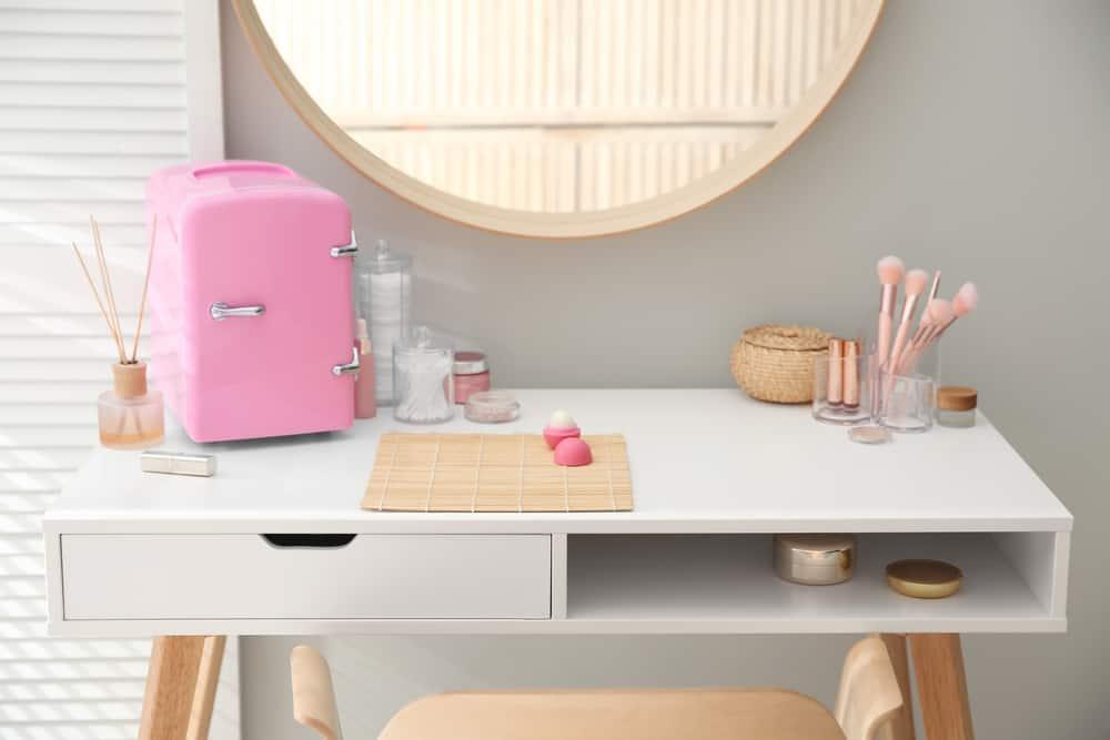 organized vanity table