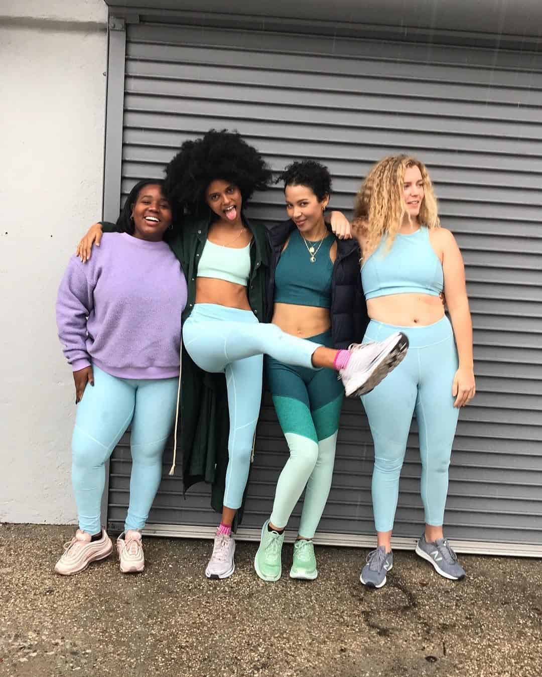 outdoor voices yoga gear on women