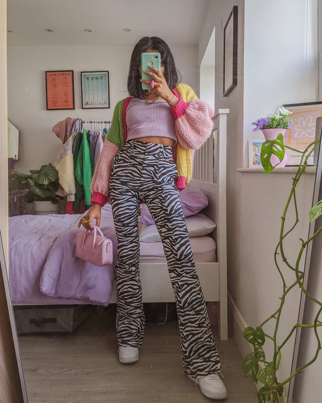 woman in funky ASOS outfit