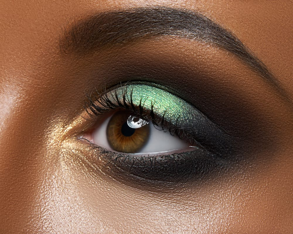 closeup of eye with eyeshadow