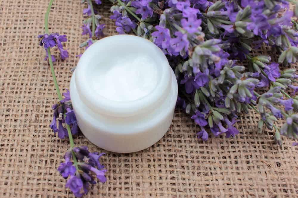 eye cream jar by lavender