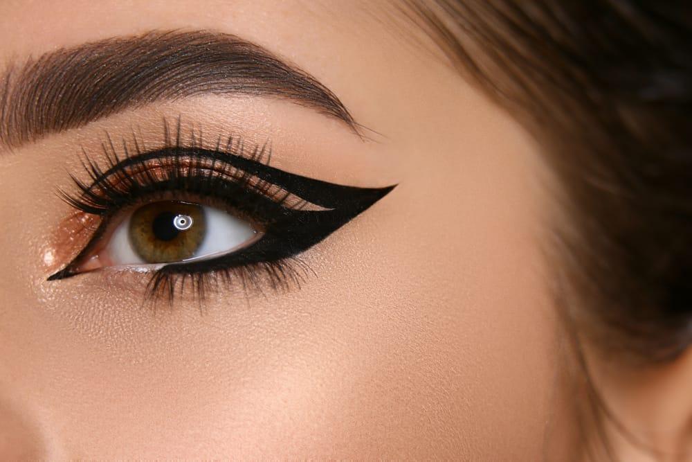 eye with dramatic black eyeliner
