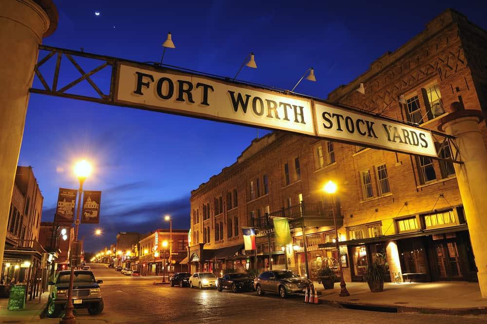 Fort Worth stockyards sign