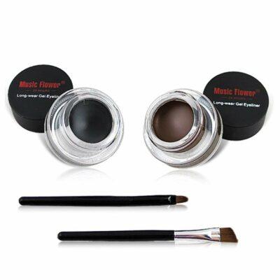 Music Flower 2-in-1 Black and Brown Gel Eyeliner